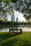 Sera del parco di Lumpini Fotografia Stock Libera da Diritti