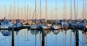 Sera del porto dell'yacht Fotografia Stock Libera da Diritti