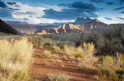 Sera del sud dell'Utah Fotografia Stock