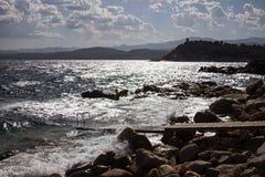Sera della Sardegna Fotografie Stock Libere da Diritti