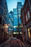 Sera della via di Londra Fotografie Stock