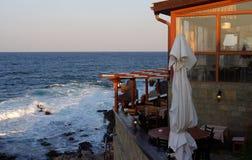 Sera di autunno dal mare Immagine Stock