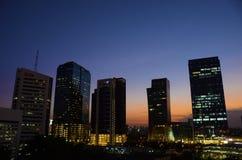 Sera di Bangkok immagine stock