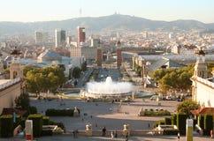 Sera di Barcellona. Fotografie Stock Libere da Diritti