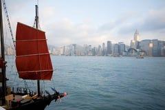 Sera di Hong Kong Fotografie Stock