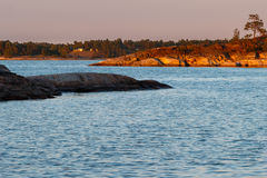 Sera di inizio dell'estate fuori di Stoccolma Immagine Stock