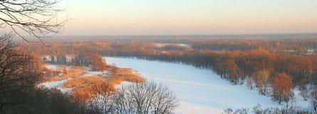 Sera di inverno fotografie stock