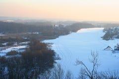 Sera di inverno Fotografie Stock Libere da Diritti