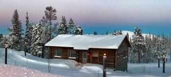 Sera di inverno Fotografia Stock