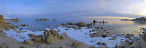 Sera di inverno. Mare del Giappone. Fotografie Stock Libere da Diritti