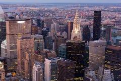 Sera di New York Fotografia Stock