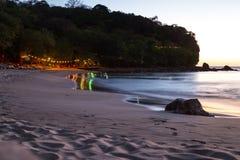 Sera di rilassamento alla spiaggia Fotografia Stock Libera da Diritti