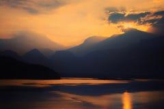 Sera di tramonto fotografia stock