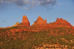 Sera di tramonto della roccia rossa a Sedona Immagine Stock Libera da Diritti