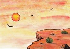 Sera di tramonto (Zen Pictures, 2011) Fotografia Stock Libera da Diritti