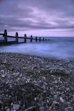 Sera drammatica dell'oceano Fotografia Stock Libera da Diritti