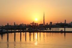 Sera in Dubai Immagini Stock