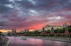 Sera fantastica a Mosca fotografia stock