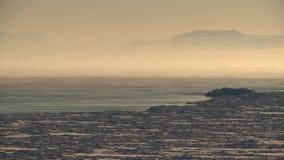 Sera gelida di inverno sull'oceano archivi video