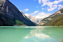 Sera a Lake Louise Fotografia Stock