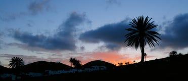 Sera a Lanzarote, Canarie Fotografia Stock