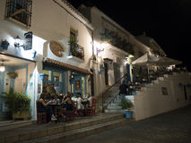 Sera a Mijas una di villaggi 'bianchi' più bei di Andalusia Immagini Stock