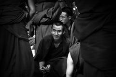 Sera Monastery Debating Monk in bandw watches Lhasa Tibet Stock Image