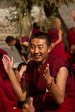 Sera Monastery Debating Monk claps, Lhasa Tibet Royalty Free Stock Photo