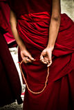 Sera Monastery Debating Monk wit beads, Lhasa Tibet Stock Photos