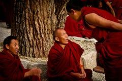 Sera Monastery Debating Monks in Lhasa Tibet fotografia stock