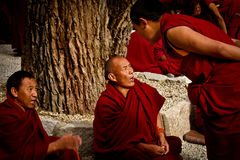 Sera Monastery Debating Monks in Lhasa Tibet Stock Photography