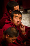 Sera Monastery Debating Monks of Lhasa Tibet Stock Photography