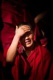 Sera Monastery young Debating Monk Lhasa Tibet Stock Photography