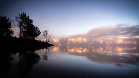 Sera nebbiosa fotografia stock libera da diritti