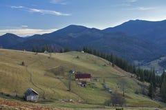 Sera nei Carpathians Fotografia Stock