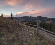 Sera nei Carpathians Fotografie Stock Libere da Diritti
