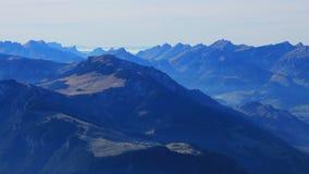 Sera nel Bernese Oberland Fotografie Stock