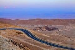 Sera nel deserto Fotografia Stock