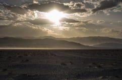 Sera nel deserto Fotografia Stock Libera da Diritti