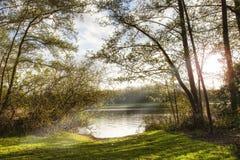Sera nel lago Fotografia Stock Libera da Diritti