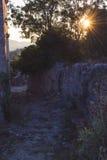 Sera nella città rovinata antica di Antivari Fotografia Stock Libera da Diritti