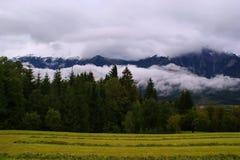 Sera nelle alpi, Austria Immagini Stock Libere da Diritti