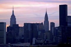 sera New York Immagine Stock Libera da Diritti
