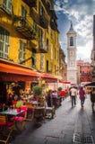 Sera in Nizza, Francia Immagini Stock Libere da Diritti