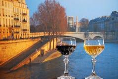 Sera a Parigi immagine stock libera da diritti