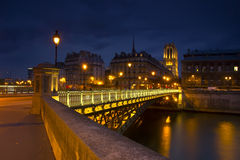 Sera Parigi, Francia Fotografia Stock