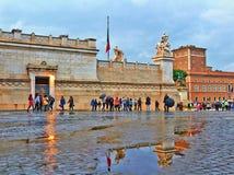 Sera piovosa di autunno a Roma fotografia stock