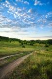Sera pittoresca di estate del paesaggio Fotografie Stock Libere da Diritti