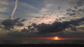 Sera romantica del cielo fotografia stock libera da diritti