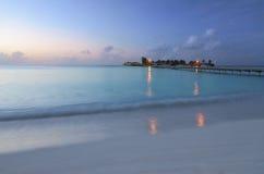 Sera romantica in Maldive Immagini Stock Libere da Diritti